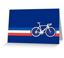 Bike Stripes French National Road Race Greeting Card