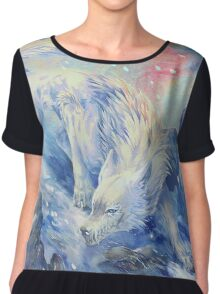 skoll - watercolor Chiffon Top