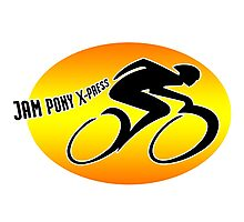 Jam Pony Logo (Dark Angel) Photographic Print
