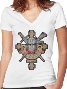 Deus Vult Women's Fitted V-Neck T-Shirt