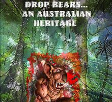 DROP BEAR POSTER by tnewton69