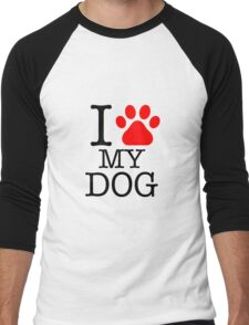 I love dog Men's Baseball ¾ T-Shirt