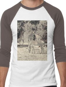 Stripes and tiles, it is a wildlife Men's Baseball ¾ T-Shirt