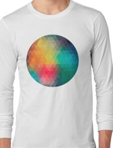 Colourful Pattern Long Sleeve T-Shirt