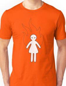 Black & White Angry Girl Unisex T-Shirt