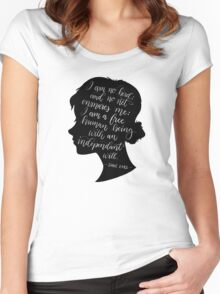 Jane Eyre Quote - Charlotte Bronte Women's Fitted Scoop T-Shirt