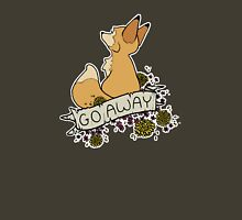 go away Womens Fitted T-Shirt