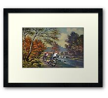 Approaching the Finch Line Framed Print