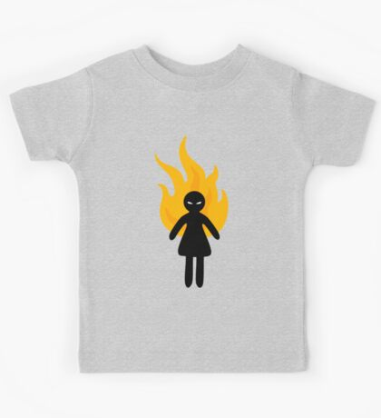 Beware of The Angry Girl Kids Tee