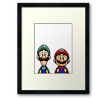 Mario & Luigi Framed Print