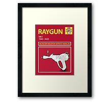 Ray gun Haynes Manual Framed Print