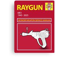 Ray gun Haynes Manual Canvas Print