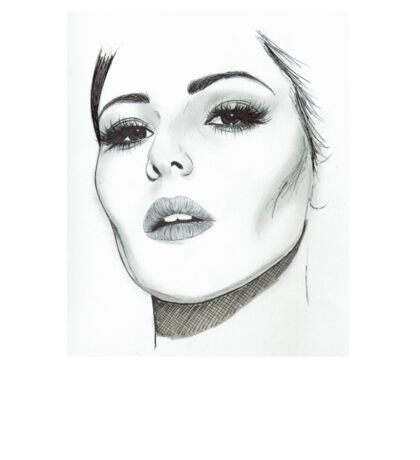 Cheryl in Cannes for L'oreal illustration Sticker