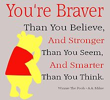 Winnie The Pooh Quote by Natalie Rowe