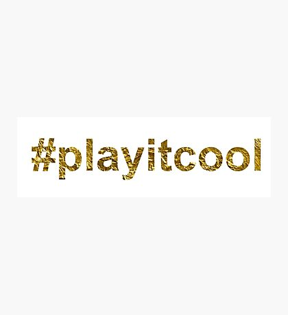 play it cool   Golden Photographic Print