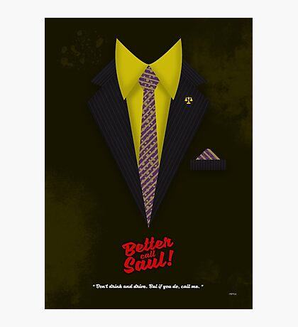 """Better Call Saul - Suit No. #6 - James Morgan """"Jimmy"""" McGill's Style. Photographic Print"""