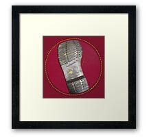 Dr. Martens Boot Sole Oxblood Framed Print