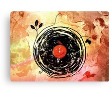 Enchanting Vinyl Records Grunge Art  Canvas Print