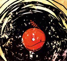 Enchanting Vinyl Records Grunge Art  Sticker