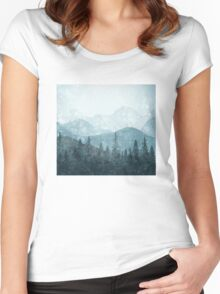 Morning Glory - Turquoise Women's Fitted Scoop T-Shirt