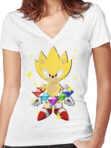 Super Sonic Women's Fitted V-Neck T-Shirt