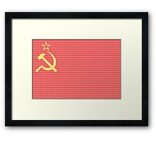 Soviet Flag Framed Print
