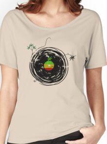 Reggae Music - Vinyl Records Cannabis Leaf - DJ inspired design Women's Relaxed Fit T-Shirt