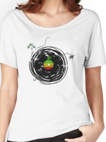 Reggae Music - Vinyl Records Cannabis Leaf - DJ inspired design Women's Relaxed Fit T-Shirt