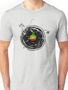 Reggae Music - Vinyl Records Cannabis Leaf - DJ inspired design Unisex T-Shirt