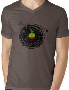 Reggae Music - Vinyl Records Cannabis Leaf - DJ inspired design Mens V-Neck T-Shirt