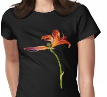 Lily flower Womens Fitted T-Shirt