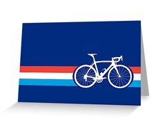 Bike Stripes Luxembourg Greeting Card