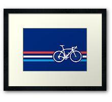 Bike Stripes Luxembourg v2 Framed Print