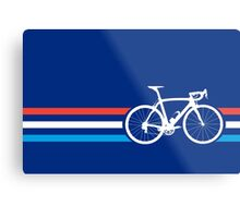 Bike Stripes Luxembourg v2 Metal Print