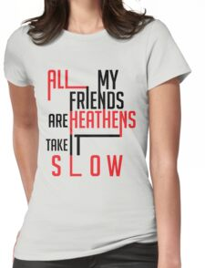 Heathens Typography Womens Fitted T-Shirt