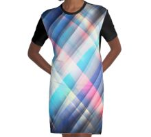 The Curtain of Space Graphic T-Shirt Dress
