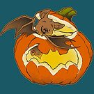 Pumpkin Bat by dooomcat