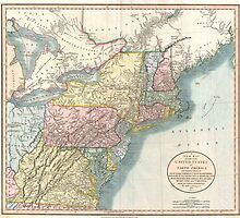 Vintage Map of New England (1821)  by BravuraMedia