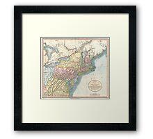 Vintage Map of New England (1821)  Framed Print