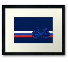 Bike Stripes Russia Framed Print