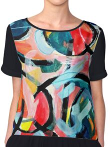 Black Swirls Color Dances Chiffon Top