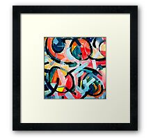 Black Swirls Color Dances Framed Print