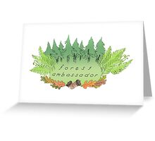 FOREST AMBASSADOR - LEAFY FRIEND Greeting Card