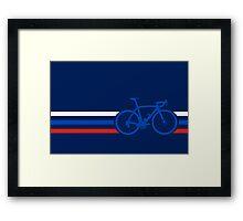 Bike Stripes Russia v2 Framed Print