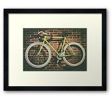 Bike Hanged On Brick Wall Framed Print