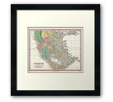 Vintage Map of Greece (1827) Framed Print