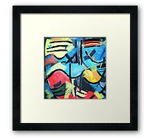 Tic Tac Abstract Framed Print