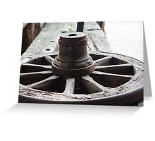 Old wooden wheel Greeting Card