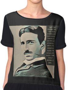 Nikola Tesla  Chiffon Top