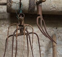 old pitchfork for hay by spetenfia